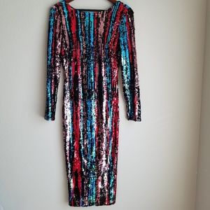 Dress the Population Emery Sequin Dress size M NWT